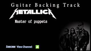 Metallica - Master of puppets Guitar Backing Track w/Vocals