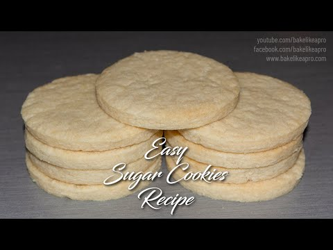 Easy Sugar Cookie Recipe ALL Butter Recipe 4K