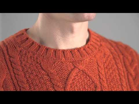 Hawick Knitwear Men's 100% Lambswool Chunky Cable Knit Pullover