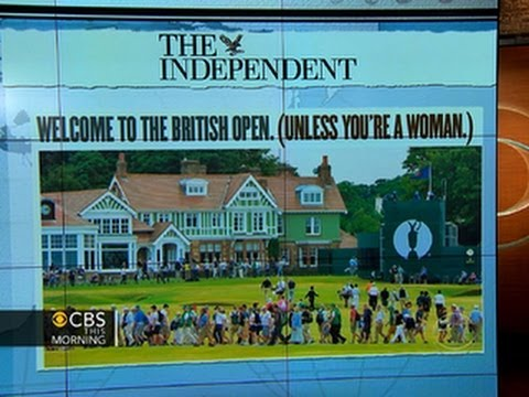 Headlines at 8:30: British Open club is men-only