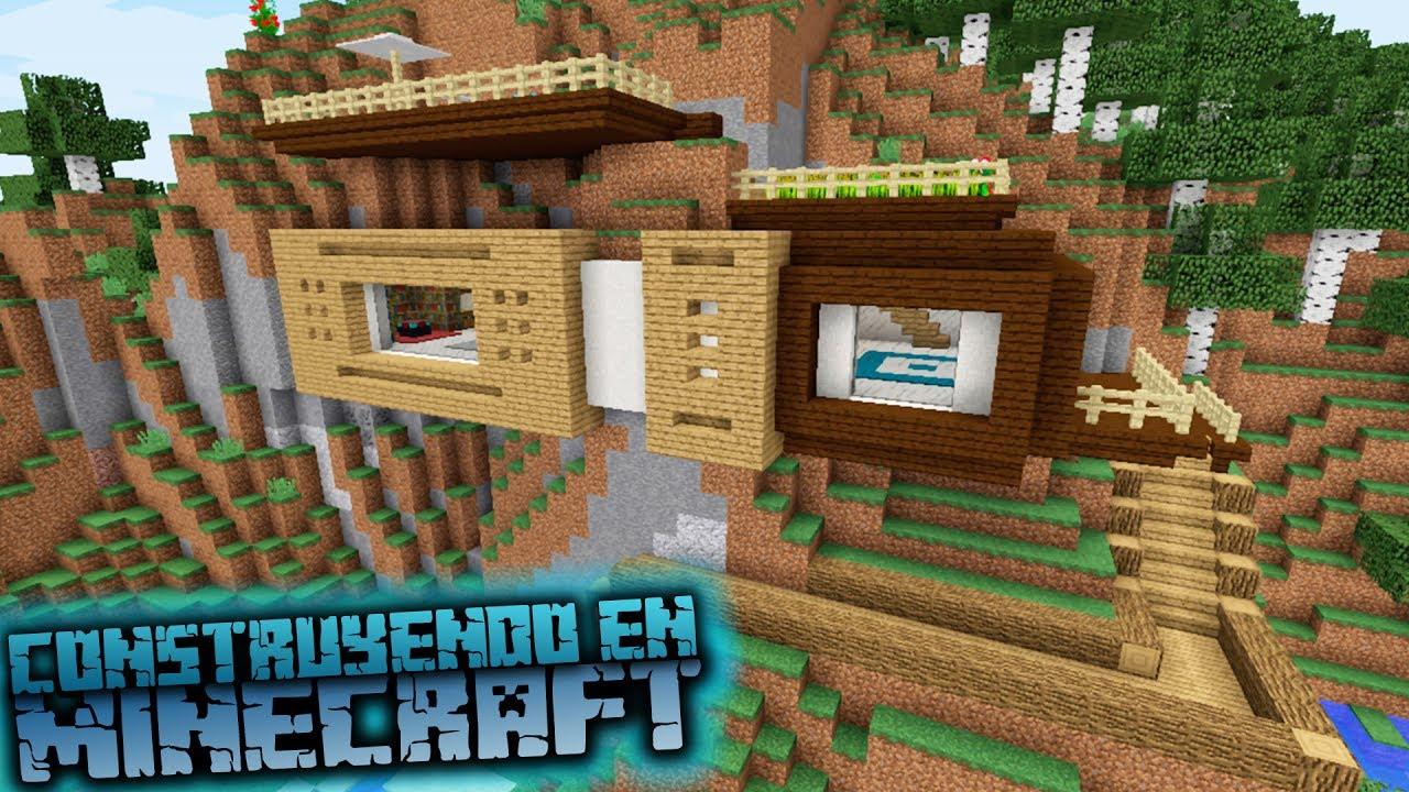 Como hacer una casa moderna en una monta a minecraft for Como aser una casa moderna y grande en minecraft