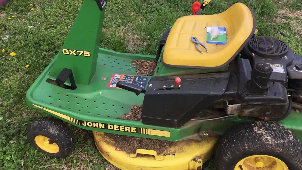 small resolution of john deere gx75 fuel filter change