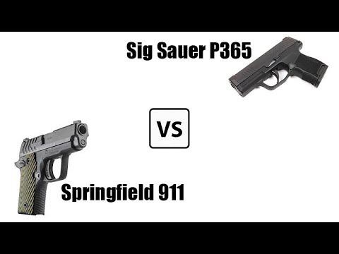 The Sig P365 Vs  the Springfield 911 | Davenport Guns