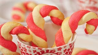 Candy Cane Cookies Recipe Demonstration - Joyofbaking.com