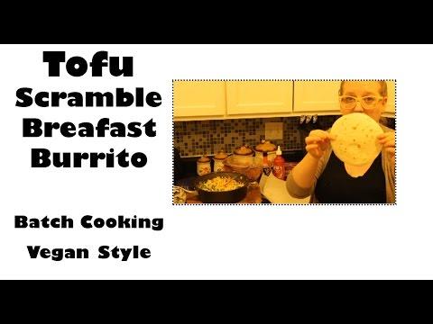 Tofu Scramble Vegan Batch Cooking Breakfast (Oil free)