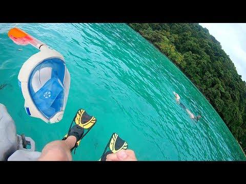 Снорклинг в Таиланде! Обзор полнолицевой маски для снорклинга!