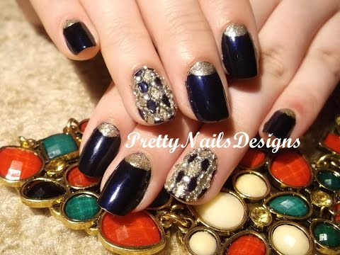 Easy Baroque Treasure Blingy Nail Art