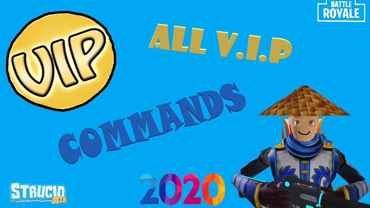 strucid vip server  commands  youtube