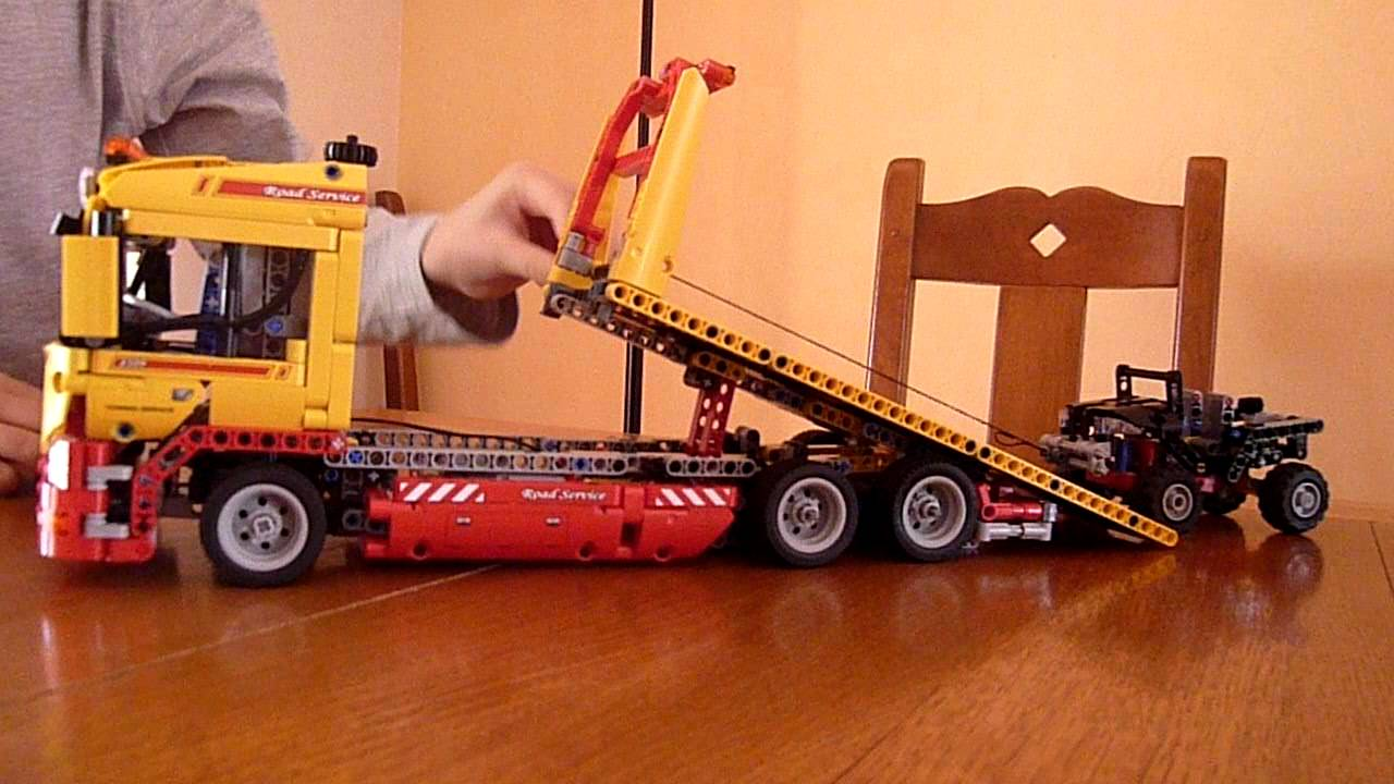 lego technics camion benne basculante d paneuse youtube. Black Bedroom Furniture Sets. Home Design Ideas