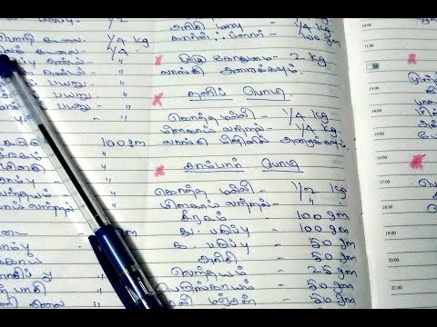 Grocery list in tamil for couples|Grocery list to be