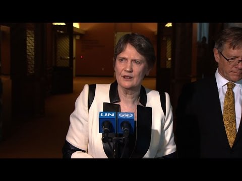 New Zealand's Helen Clark attends UN candidacy hearing