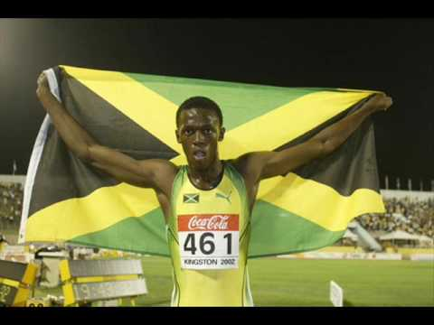 Young Usain Bolt at World Youth Championships in 2003