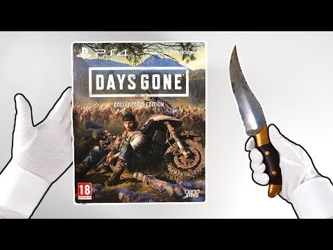 Days Gone Collector's Edition Unboxing [PS4 Exclusive] Playstation 4 Pro Gameplay
