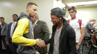 Neymar Jr. hangs with the Golden State Warriors following their? #?NBAFinals? Game 2 victory!