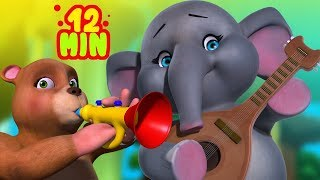 Animal Song and Dance Cartoon Video Collection for Kids | Infobells
