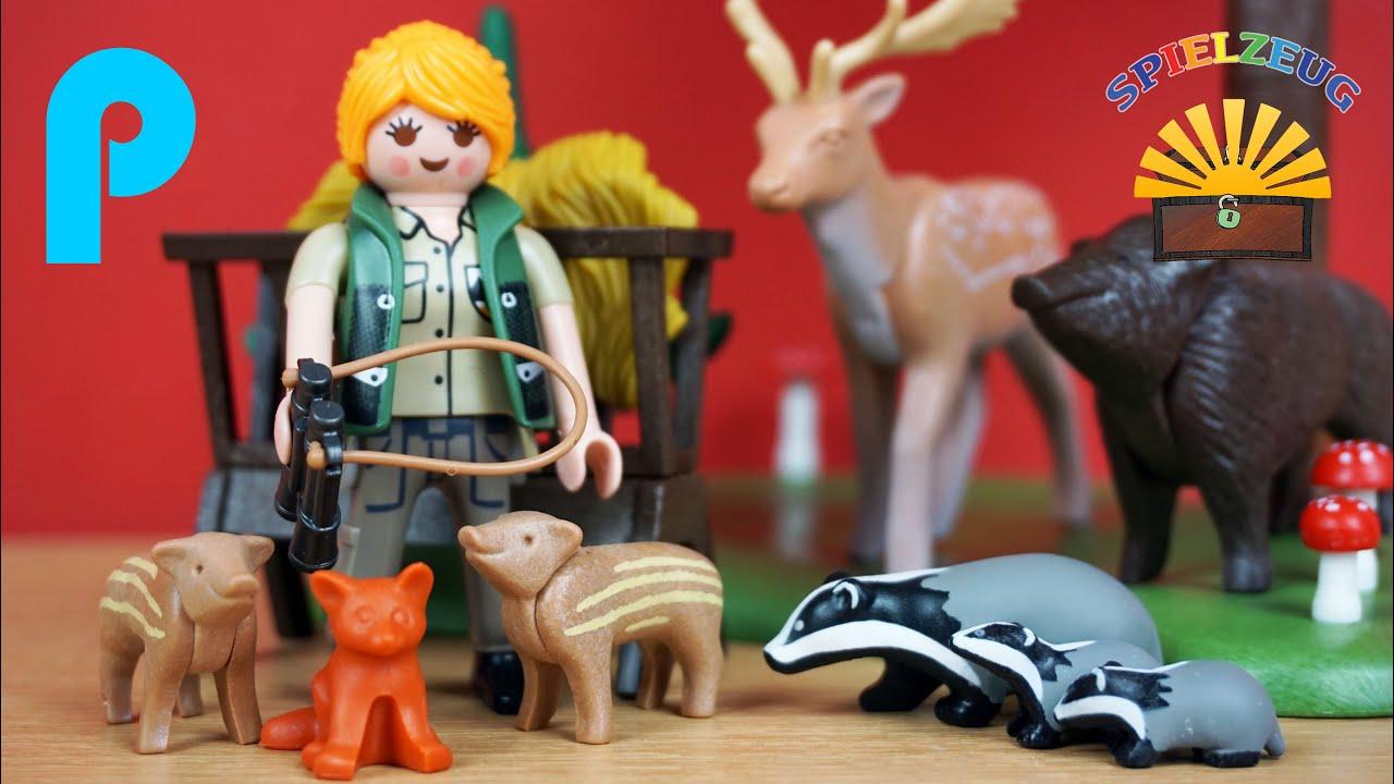 Playmobil 6815 Playmobil Waldlichtung mit Tierfütterung
