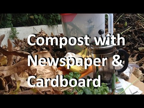 Start A New Compost Pile With Newspaper & Cardboard