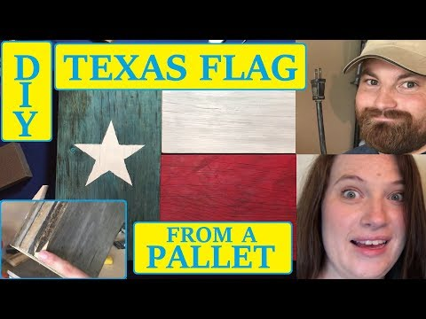 Simple Pallet Texas Flag Project, DIY
