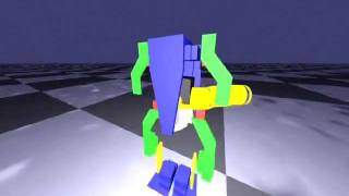 ZORC - humanoid robot learning to walk using Genetic Programming