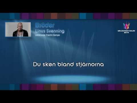"""Linus Svenning - """"Bröder"""" - (on screen lyrics)"""