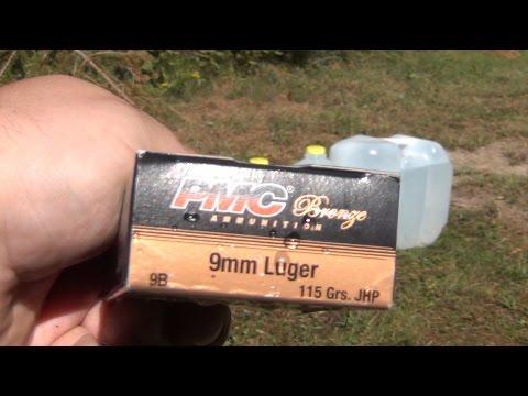 Ammo Test : Penetration & Expansion (PMC Bronze 9mm 115gr JHP)