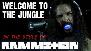 Welcome to the Jungle in the style of RAMMSTEIN