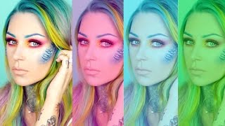 Mermaid Tutorial - NYX Face Awards Challenge # 3 | KristenLeanneStyle