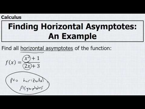 Calculus finding horizontal asymptotes example 3 youtube calculus finding horizontal asymptotes example 3 ccuart Gallery