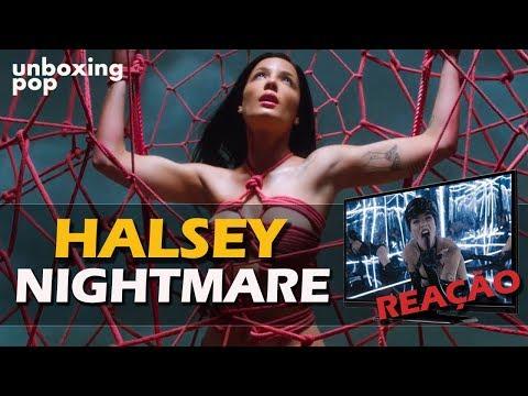 REAÇÃO + REVIEW  HALSEY - NIGHTMARE