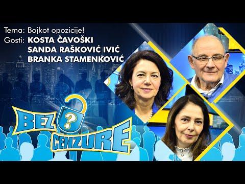 BEZ CENZURE: Bojkot opozicije!  Kosta Čavoški, Sanda Rašković Ivić i Branka Stamenković