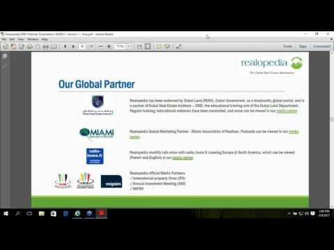 Realopedia Webinar Session 1 - Dubai Real Estate Institute (DREI) Scene 5