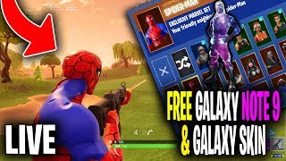 24 HR EVENT! New SPIDER-MAN SKIN! Note 9 & Galaxy Skin GIVEAWAY! (Fortnite Battle Royale Livestream)