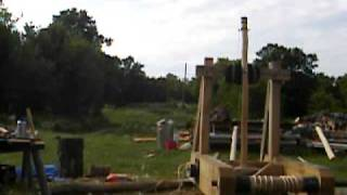 Mangonel (catapult) Test, May 30, 2010