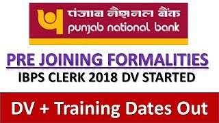 Baixar PNB (Punjab National Bank) Pre Joining Formalities 2018 || IBPS CLERK 2018 DV || DV On 30 April