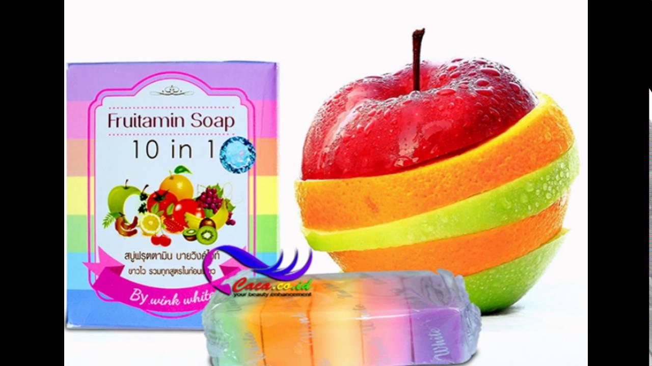 Soap Fruitamin10 In 1 By Wink White 100 G Youtube Fruitamin 10 Frutamin Sabun