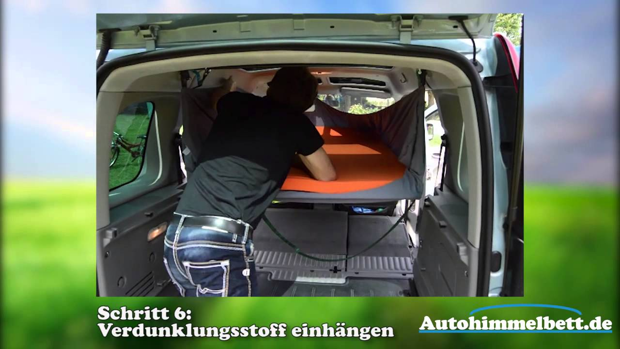 renault kangoo als minicamper schlafen im auto ganz. Black Bedroom Furniture Sets. Home Design Ideas