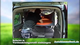 Renault Kangoo als Minicamper - Schlafen im Auto, ganz einfach mit unserem Autohimmelbett