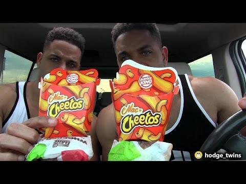 Eating Burger King's Mac N' Cheetos & Whopper JR @hodgetwins