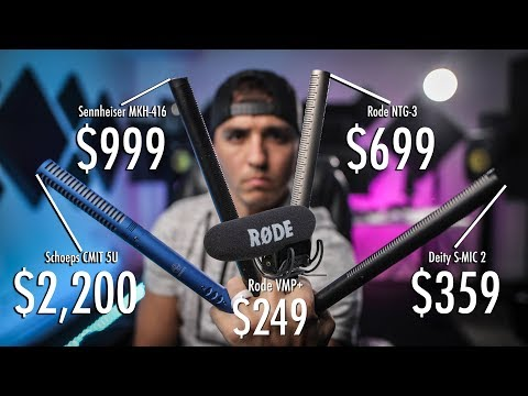 Shotgun Mic Shootout! Video Mic Pro Vs. NTG-3 Vs. 416 Vs. S-Mic 2 Vs. CMIT 5u