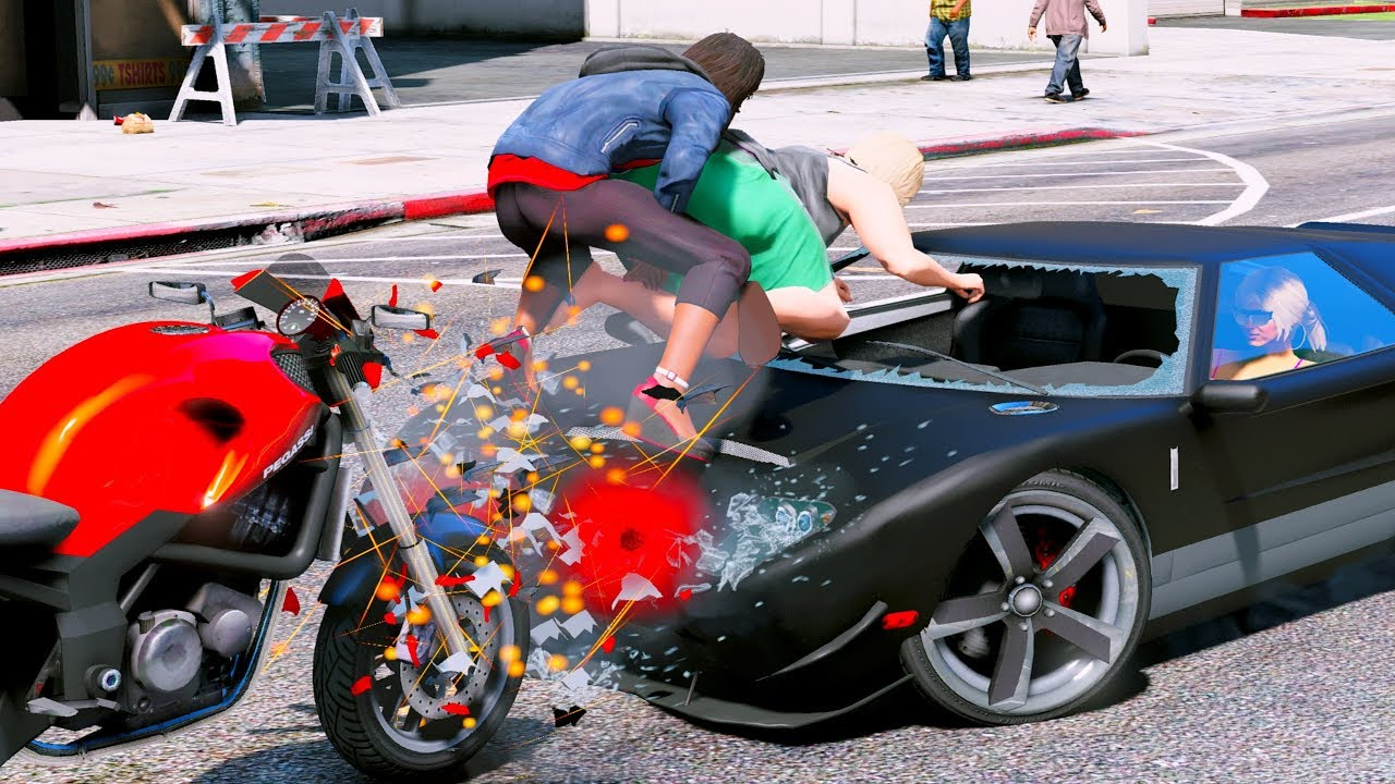 motorcycle crashes gta crazy