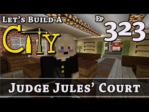 How To Build A City :: Minecraft :: Town Hall Court Room :: E323