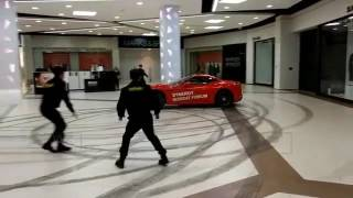 Ferrari California drifting in Moscow shopping center