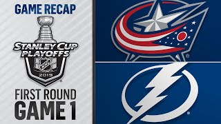 Blue Jackets rally to stun Lightning in Game 1