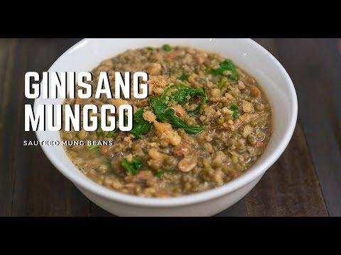 Download Filipino Ginisang Munggo   Sauteed Mung Beans and Dried Shrimp with Spinach