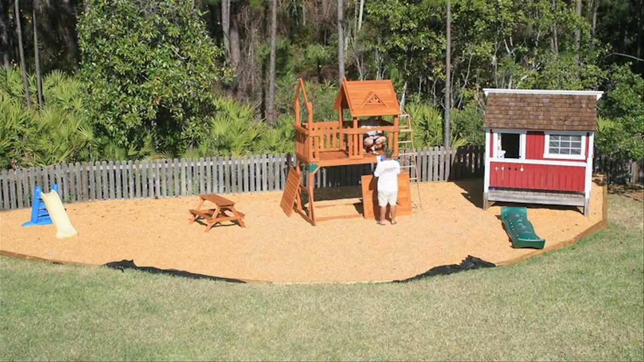 building backyard playset time lapse youtube