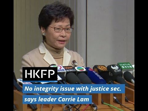 Give new justice sec. 'time' to sort out 'illegal' structures issue: Carrie Lam