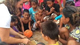 Jeremy Jones Drumming with Children on Ebeye Island (10.7.2014)