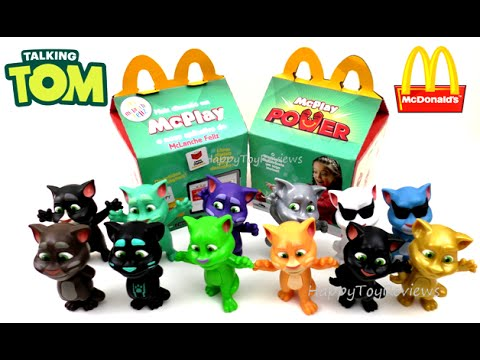 2016 Mcdonald S Talking Tom Happy Meal Toys Box Brazil Mclanche