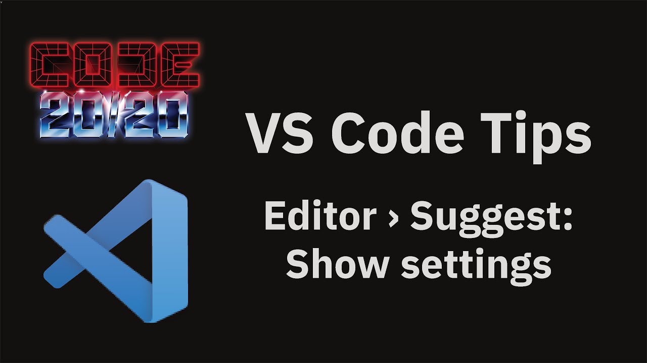 Editor › Suggest: Show settings