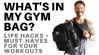 WHAT'S IN MY GYM BAG? Life Hacks & Must Haves For Your Workouts – by Men's Health Cover Guy